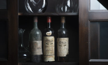 old bottles of pessac leognan's wine