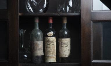Vieilles bouteilles chateau brown en Pessac-Leognn