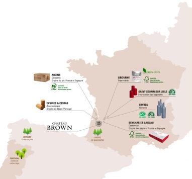 Carte des fournisseurs